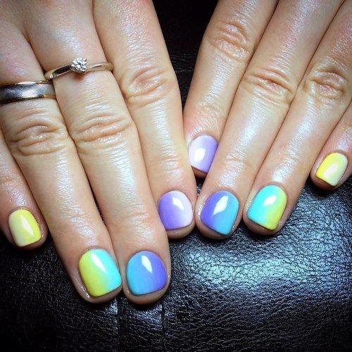Модный маникюр омбре на ногти разной длины: фото идеи