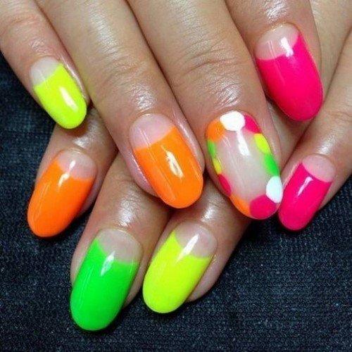 Яркий маникюр - оригинальные идеи дизайна ногтей в насыщенных оттенках