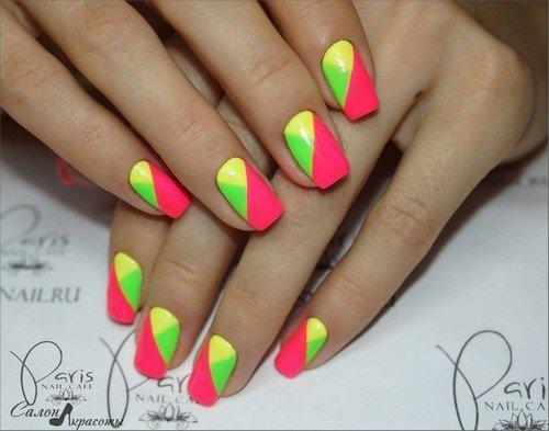 Фото яркого дизайна ногтей