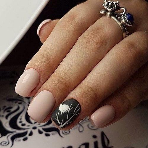 Фото ногтей квадратной формы с рисунками 81