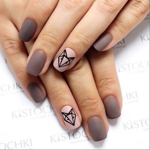 Красивый маникюр на квадратные ногти : квадратный