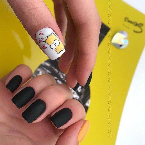 Красивый маникюр на квадратные ногти - фото идеи дизайна, модные тренды