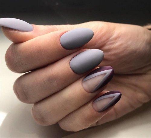 Модный серый маникюр - фото новинки, дизайн ногтей в сером цвете