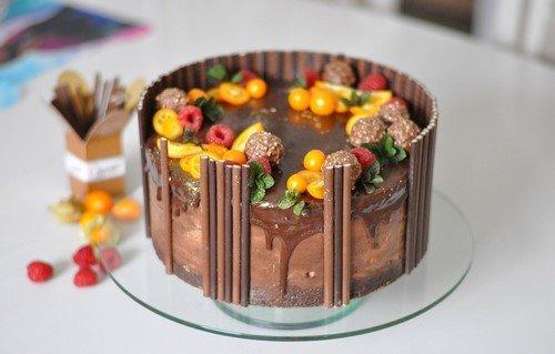 Самые красивые шоколадные торты - фото, оформление, идеи декора и дизайна