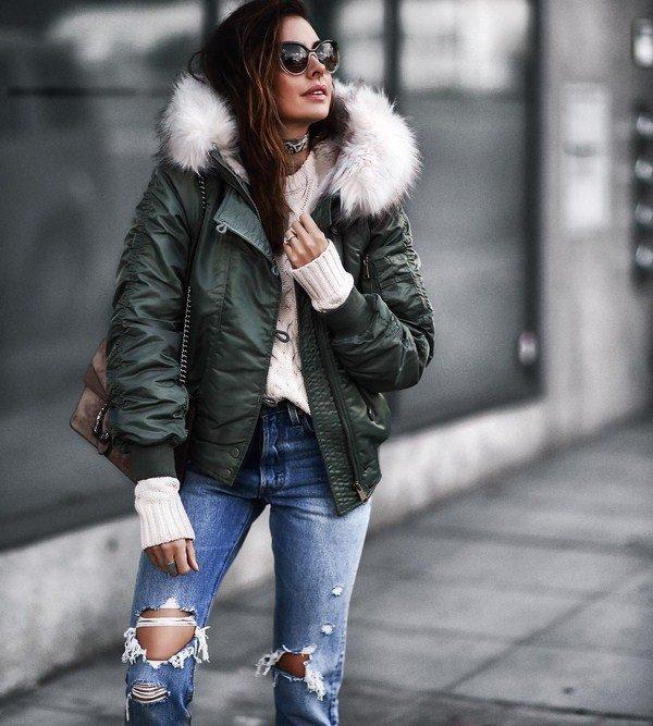 Стильные луки с куртками 2021-2022 в разных стилях – 60+ фото