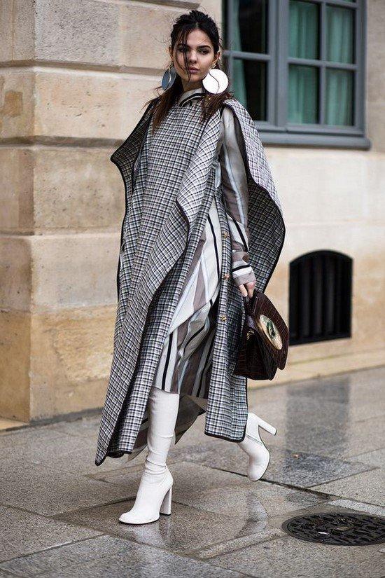 Самые желанные пальто в клетку - трендовая модель пальто в лучших интерпретациях