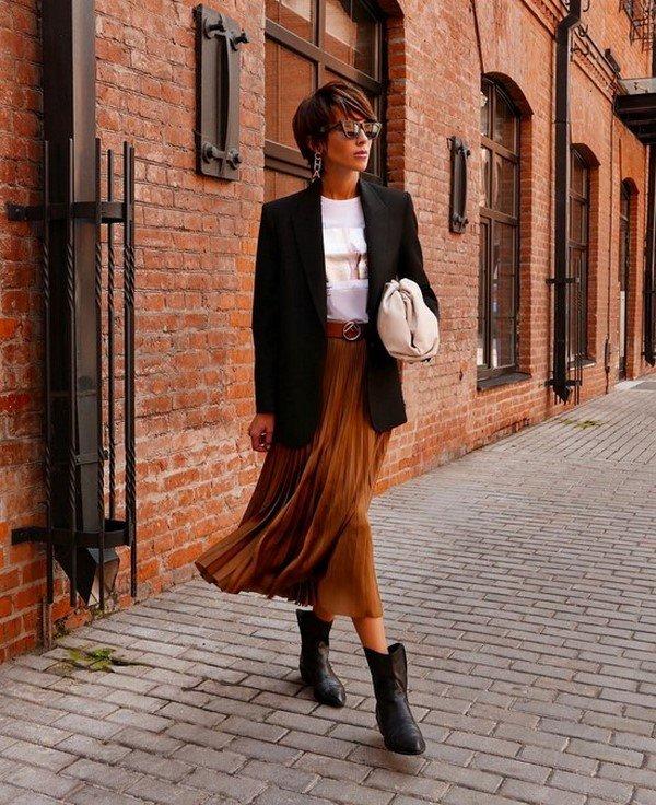 С чем носить юбки. Фото подсказки. Модные сочетания