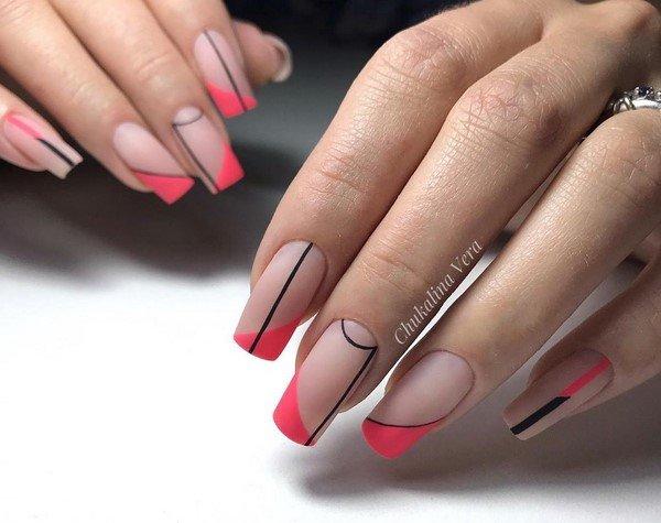 Модный маникюр френч на ногтях любой формы и длины 2021-2022: фото идеи